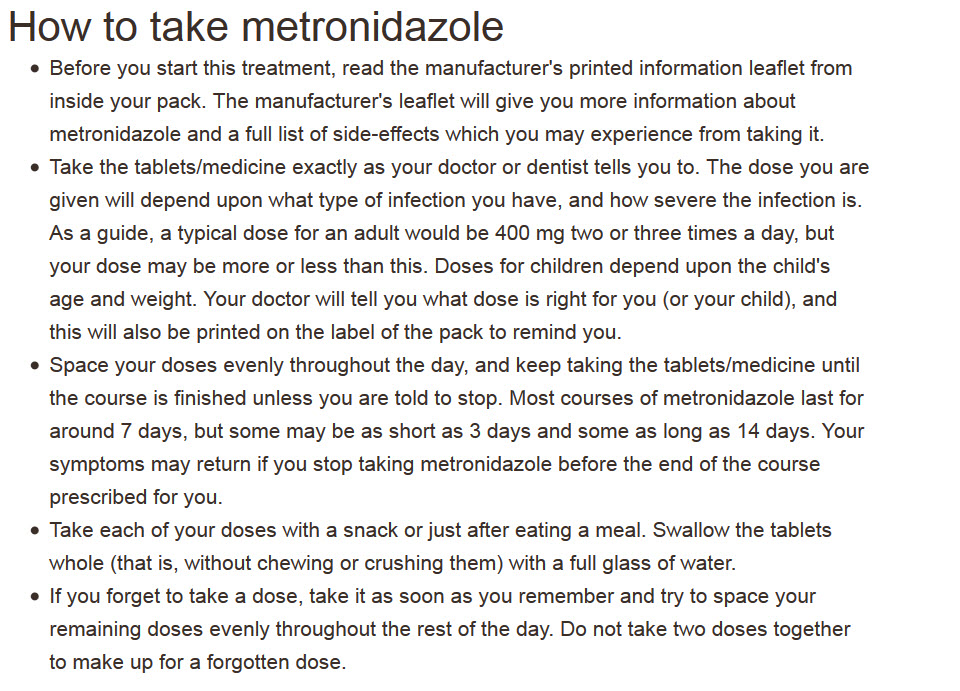 All you need to know about Metronidazole is the instructions for use, availability, price and where to buy online at an online pharmacy.